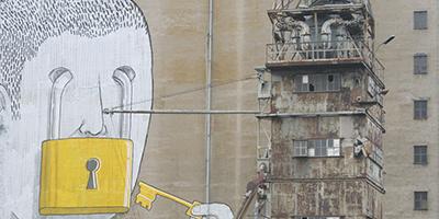 Kunstprojekte: Fotoblog - Verlassene Orte Wien - Alberner Hafen - Blu