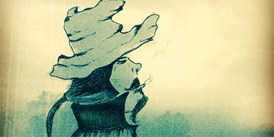 Kunstprojekte: Zeichnungen und Collagen - Cloudface Cowboy