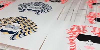 Kunstprojekte: Siebdruck Johnny Mussegg
