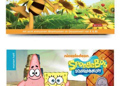 Postkartenhefte Biene Maja & Sponge Bob